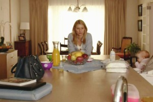 Carrie at table - homeland